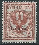 1912-15 LIBIA AQUILA 2 CENT MNH ** - M23-4 - Libya