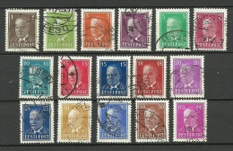 ESTLAND Estonia Estonie 1936-1939 Präsident Konstantin Päts 16 Different Nominals O - Estland