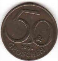 Österreich - AUSTRIA, 50 GROSCHEN 1963 - Oesterreich