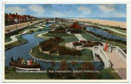 GREAT YARMOUTH : THE PROM - VENETIAN WATERWAYS / 1963 - JOE BROWN, THE TORNADOS, MARK WYNTER - Great Yarmouth