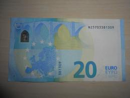 Austria Österreich Autriche 20 Euro Draghi  Serial Number: NZ!!!  Nearly UNC (II+) - EURO