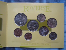 Australia 1988 8 Coin UNC Set By Royal Australian Mint Sealed In Folder 1 Cent - 2 Dollars - Australia