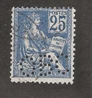 Perforé/perfin/lochung France No 114 OBC  Orosdi Back - France