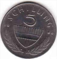 Osterreich - Austria,  5 SCHILLING 1969 - Oesterreich