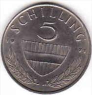 Osterreich - Austria,  5 SCHILLING 1971 - Oesterreich