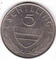Osterreich - Austria,  5 SCHILLING 1972 - Oesterreich