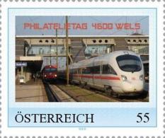 Philatelietag 4600 Wels - Zug - Pers.Briefmarke - 8024450** - Personalisierte Briefmarken