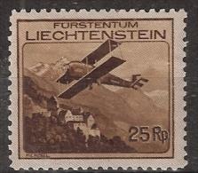 Liechtenstein 1930 Flugpost MiNr. 110 (YT Nr 3.) Ungebracht/MH/* - Air Post