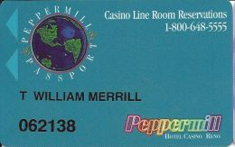 Peppermill Casino Reno, NV - 4th Issue Slot Card - PPC Over Mag Stripe - Casino Cards