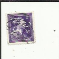 Timbre 2 Fr -Leopold III_Perforé ( D N C )  Bon Etat 1938 - 1934-51
