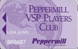 Peppermill Casino Reno, NV - 3rd Issue Slot Card - (702) 689-7282 Phone# - Casino Cards
