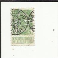 Timbre 5 Cts_Type 1893--Perforé ( D  C )  Bon Etat 1907 - Perfins