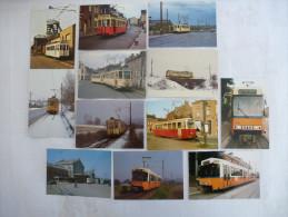 BELGIQUE : CHARLEROI TRAMWAYS SNCV Lot De 12 CPM - Voir Les Scans Recto Verso - Tranvía