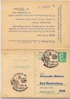TEXTILIEN RINGMESSEHAUS 1961 Leipzig Auf  DDR Postkarte Mit Antwort P70 I Zudruck Böttner #2 - Textil