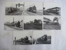 BELGIQUE : Trains Vapeurs Belges 1950 -1955 - Lot De 8 CPM - Voir Les Scans Recto Verso - Trains