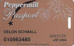 Peppermill Casino Reno, NV - 9th Issue Slot Card - Flat Background - 2004 Senior - Casino Cards