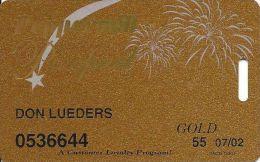 Peppermill Casino Reno, NV - 8th Issue Slot Card - Gold 07/02 Senior - Casino Cards