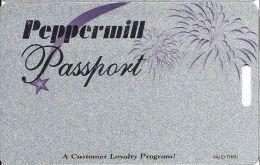 Peppermill Casino Reno, NV - 9th Issue Slot Card - Platinum BLANK - Casino Cards