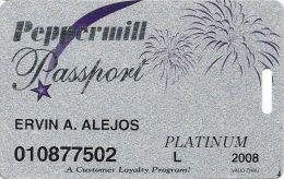 Peppermill Casino Reno, NV - 9th Issue Slot Card - Platinum 2008 Local - Casino Cards