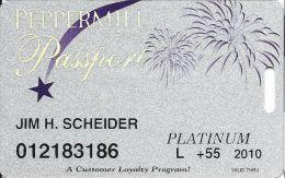 Peppermill Casino Reno, NV - 11th Issue Slot Card - Platinum 2010 Local Senior - Casino Cards