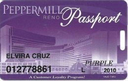 Peppermill Casino Reno, NV - 12th Issue Slot Card - Purple 2010 Local - Casino Cards