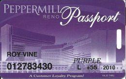 Peppermill Casino Reno, NV - 12th Issue Slot Card - Purple 2010 Local Senior - Casino Cards
