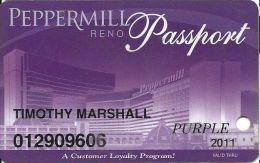 Peppermill Casino Reno, NV - 14th Issue Slot Card - Purple 2011 - Casino Cards