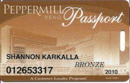 Peppermill Casino Reno, NV - 12th Issue Slot Card - Bronze 2010 - Casino Cards