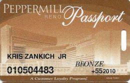 Peppermill Casino Reno, NV - 12th Issue Slot Card - Bronze 2010 Senior - Casino Cards