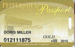 Peppermill Casino Reno, NV - 12th Issue Slot Card - Gold 2010 Senior - Casino Cards