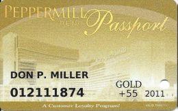 Peppermill Casino Reno, NV - 12th Issue Slot Card - Gold 2011 Senior - Casino Cards