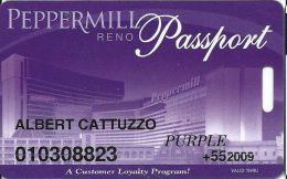 Peppermill Casino Reno, NV - 13th Issue Slot Card - Purple 2009 Senior - Casino Cards