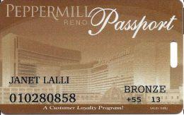 Peppermill Casino Reno, NV - 12th Issue Slot Card - Bronze 2013 Senior - Casino Cards