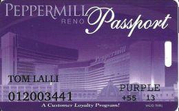 Peppermill Casino Reno, NV - 14th Issue Slot Card - Purple 2013 Senior - Casino Cards
