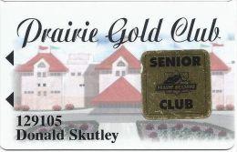 Prairie Meadows Racetrack Altoona, IA Slot Card - 16mm Logo, 23mm Text - SENIOR Sticker - Casino Cards
