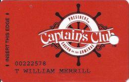 President Casino St. Louis MO Captain's Club Slot Card - Casino Cards