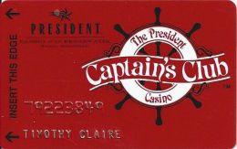 President Casino Biloxi, MS - Casino At The Broadwater - Captain´s Club Slot Card - Casino Cards
