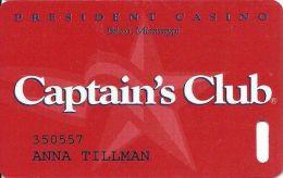 President Casino Biloxi, MS - Captain´s Club Slot Card - Casino Cards