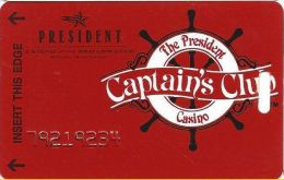 President Casino Biloxi, MS - Casino At The Broadwater - Club Slot Card - Number Only - Casino Cards