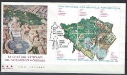 Vatican. Scott # 773a-f, FDC. S/sheet Of 6. Unesco World Heritage. 1986 - FDC