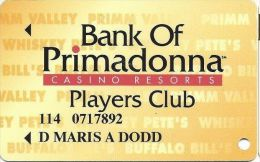 Primadonna Casino Primm, NV - Slot Card - Last Line ´of Age.´ - 8.5mm Mag Stripe - Casino Cards