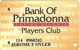 Primadonna Casino Primm, NV - Slot Card - Website Added - PPC Over BLACK Mag Stripe - Casino Cards