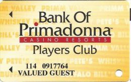 Primadonna Casino Primm, NV - Slot Card - Last Line ´21 Years Of Age´ - VALUED GUEST - Casino Cards