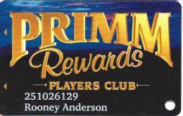 Primadonna Casino Primm, NV - Slot Card - Prime Shadowed - Casino Cards
