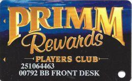 Primadonna Casino Primm, NV - Slot Card - Prime Shadowed - BB FRONT DESK Printing - Casino Cards
