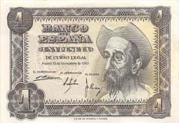 BILLET UNA PESETA MADRID 19 NOVEMBRE 1951 - 1-2 Pesetas