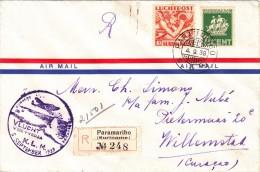Surinam / Airmail / Curacao / K.L.M. - Suriname ... - 1975