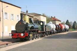 Romaneche Thorins (71) Locomotive A Vapeur 4A51 (type 040) - Trains