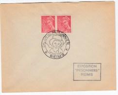 83880 Q - Enveloppe SALON DU PRISONNIER * REIMS * 31 Mai 1944 SUP - Postmark Collection (Covers)