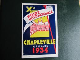 CPA - X° FOIRE INTERNATIONALE CHARLEVILLE 1934 - Charleville